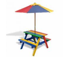 vidaXL Kinderpicknicktisch & Bank Kinder Picknicktisch Sitzgruppe