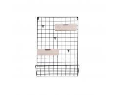 Present Time Grid Memo-Board mit Holzkörben
