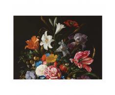 KEK Amsterdam Golden Age Flowers V Fototapete - schwarz - 389,6 x 280 cm (= 8 Bahnen)