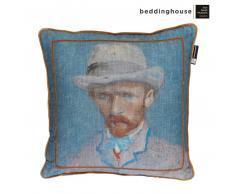 Beddinghouse x Van Gogh Museum Self Portrait Vincent Dekokissen - blau - 50x50 cm