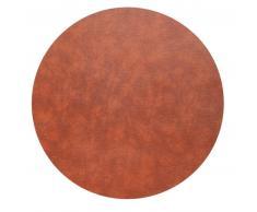 Lind DNA Circle XXXXL Bull Fußmatte - cognac - Ø 115 cm