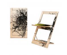 AMBIVALENZ Fläpps Baum/Baum Gelb Klappstuhl - beidseitig bedruckt - Baum/Baum Gelb - H/B/T 75 x 47 x 45 cm