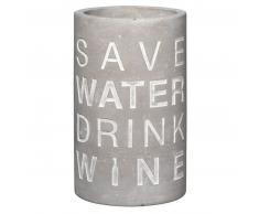 räder POESIE ET TABLE Vino Apéro Beton Flaschenkühler-Save Water… - grau - H 21 cm