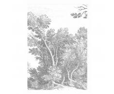 KEK Amsterdam Engraved Landscape V Fototapete - grau - 194,8 x 280 cm (= 4 Bahnen)