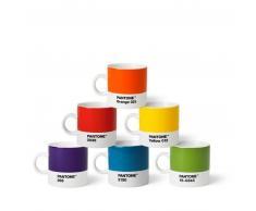 Pantone Porzellan-Espressotassen 6er-Set