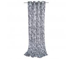 Tom Tailor Batic Leaves Ösen-Vorhang - schwarz - 140x245 cm