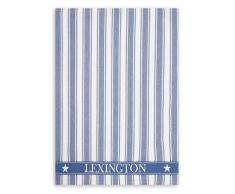 LEXINGTON Icons Cotton Twill Waffle Striped Geschirrtuch - blue-white - 50x70 cm