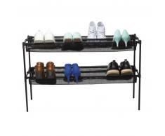 Umbra Shoe Sling Schuhregal 2-tlg - black - 92 x 32 x 58 cm