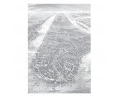 KEK Amsterdam Engraved Landscapes New York Fototapete - grau - 194,8 x 280 cm (= 4 Bahnen)