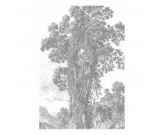 KEK Amsterdam Engraved Landscape II Fototapete - grau - 194,8 x 280 cm (= 4 Bahnen)