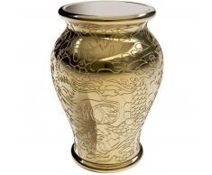 qeeboo Ming Metall Finish Stuhl/Beistelltisch - gold - 34,5 x 34,5 x 61 cm