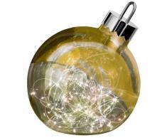Sompex ORNAMENT Weihnachtskugel-Leuchte - gold - Ø 25 cm