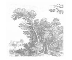 KEK Amsterdam Engraved Landscape V Fototapete - grau - 292,2 x 280 cm (= 6 Bahnen)