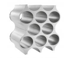 koziol SET-UP Flaschenregal - organic grey - L 23 x B 35,3 x H 36,4 cm