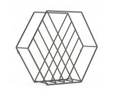 Umbra Zina Zeitschriftenständer - Metallic Titanium - 38x12x33 cm