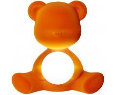 qeeboo Teddy Girl Rechargeable Lamp Velvet Finish Tischleuchte - orange - 35 x 24 x 32 cm