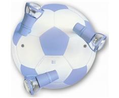 waldi Leuchten Fußball Deckenleuchte - A++ - blau - H 16 cm, Ø 31 cm