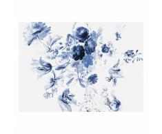 KEK Amsterdam Royal Blue Flowers III Fototapete - blau - 389,6 x 280 cm (= 8 Bahnen)