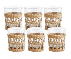 HK living Wicker Wasserglas-6er Set