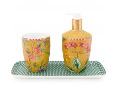 Pip Studio Petites Fleurs 3-tlg. Badezimmer-Set - yellow - 3-teilig