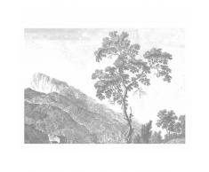 KEK Amsterdam Engraved Landscape I Fototapete - grau - 389,6 x 280 cm (= 8 Bahnen)