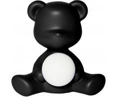 qeeboo Teddy Girl Rechargeable Lamp Tischleuchte - black - 35 x 24 x 32 cm