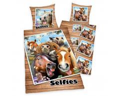 Herding Selfies Pferde Kinderbettwäsche