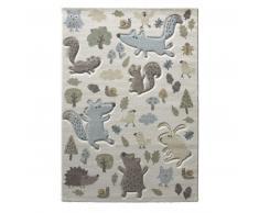 sigikid Forest Kinderteppich - weiß - 200x290 cm
