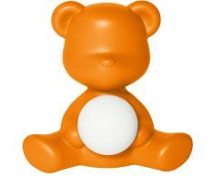 qeeboo Teddy Girl Rechargeable Lamp Tischleuchte - orange - 35 x 24 x 32 cm