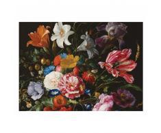 KEK Amsterdam Golden Age Flowers VI Fototapete - schwarz - 389,6 x 280 cm (= 8 Bahnen)