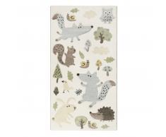 sigikid Forest Kinderteppich - weiß - 80x150 cm