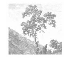 KEK Amsterdam Engraved Landscape I Fototapete - grau - 292,2 x 280 cm (= 6 Bahnen)
