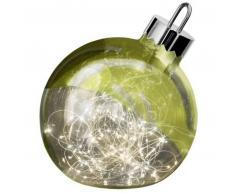 Sompex ORNAMENT Weihnachtskugel-Leuchte - grün - Ø 20 cm