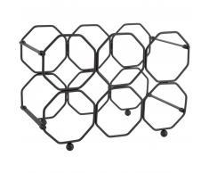 Present Time Honeycomb Weinregal - black - 31 x 16,5 x 22 cm