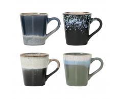 HK living 70's Ceramic Espresso-Tassen 4er-Set