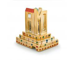 Alessi FLEURS DE JORI Dekokugel - gold - 9x7x10 cm