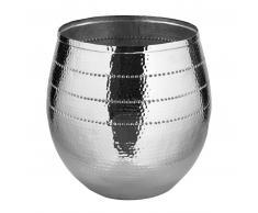 Fink Bardo Vase / Übertopf - vernickelt / silberfarben - H: 60 cm