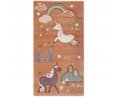 Esprit Sunny Unicorn Kinderteppich - pastellorange - 133x200 cm