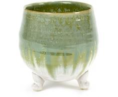 Serax Bain Blanch Stekels Dreibein Blumentopf - grün-weiß - Ø 15,5 cm - Höhe 16,5 cm
