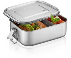 GEFU Lunchbox ENDURE klein - silber - 18x13,3x6,3 cm