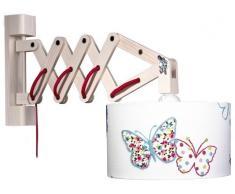 waldi Leuchten Schmetterling Wandleuchte Schere - A++