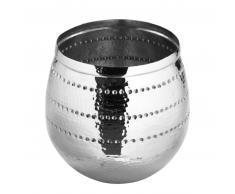 Fink Bardo Vase / Übertopf - vernickelt / silberfarben - H: 30 cm