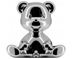 qeeboo Teddy Boy Lamp Metall Finish Tischleuchte - silver - 35 x 21 x 32 cm