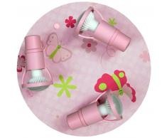 waldi Leuchten Papillon Deckenleuchte - A++ - rosa - H 16 cm, Ø 31 cm