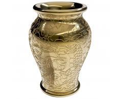 qeeboo Ming Pflanzgefäß & Champagnerkühler Metal - gold - Ø 34,5 - Höhe 61 cm
