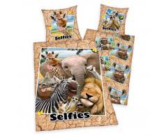 Herdings Selfies Zootiere Kinderbettwäsche