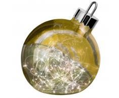 Sompex ORNAMENT Weihnachtskugel-Leuchte - gold - Ø 20 cm