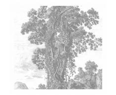 KEK Amsterdam Engraved Landscape II Fototapete - grau - 292,2 x 280 cm (= 6 Bahnen)
