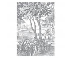 KEK Amsterdam Engraved Landscapes Fototapete - grau - 194,8 x 280 cm (= 4 Bahnen)