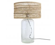 HK living Wicker bottle lamp Tischlampe
